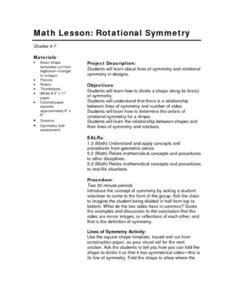 Math Lesson: Rotational Symmetry Lesson Plan