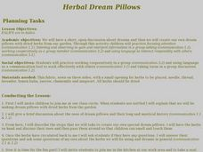Herbal Dream Pillows Lesson Plan