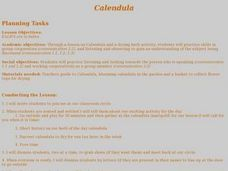 Calendula Lesson Plan