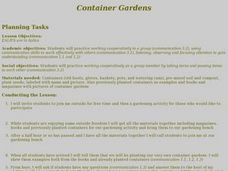 Container Gardens Lesson Plan