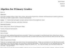 Algebra for Primary Grades Lesson Plan