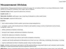 Measurement Division Lesson Plan