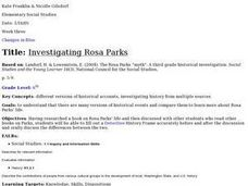 Investigating Rosa Parks Lesson Plan