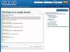 The Diary of a Jungle Animal Lesson Plan