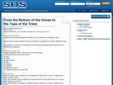 From the Bottom of the Ocean to the Tops of the Trees Lesson Plan