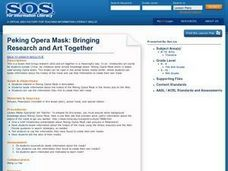 Peking Opera Mask: Bringing Research and Art Together Lesson Plan