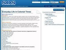 Everyday Life in Colonial Times Lesson Plan