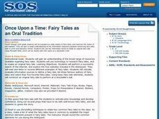 Once Upon A Time: Fairy Tales as an Oral Tradition Lesson Plan
