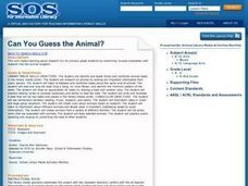 Can You Guess the Animal? Lesson Plan