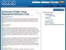 Centennial of Flight: Using Biographical Reference Tools Lesson Plan