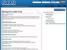 Having Fun With Fruit Lesson Plan