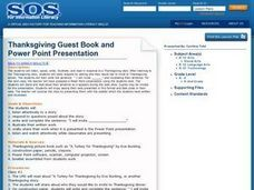 Thanksgiving Guest Book And Power Point Presentation Lesson Plan