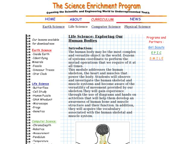 Life Science: Exploring Our Human Bodies Lesson Plan