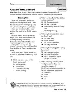 Effect Worksheet For 4th 5th Grade