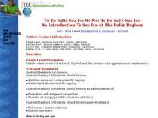 To Be Salty Sea Ice Or Not Lesson Plan