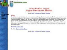 Living Without Oxygen: Oxygen Tolerance in Bacteria Lesson Plan