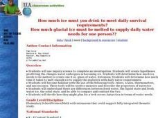 Daily Survival Requirements of Water Lesson Plan