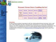 Pressure Versus Force: Landing On Ice! Lesson Plan