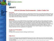 Life in Extreme Environments - Lakes Under Ice Lesson Plan