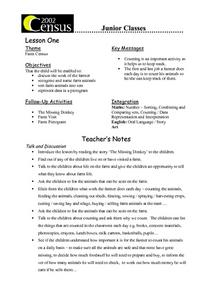 Farm Census Lesson Plan
