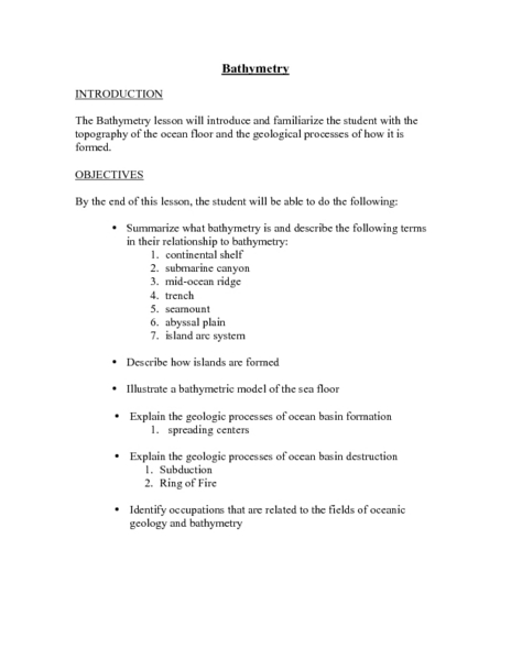 Oceanic Trench Lesson Plans Amp Worksheets Lesson Planet
