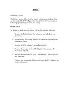 USS Alligator Lesson Plan
