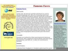 Famous Faces Worksheet