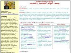 Lucy's Literacy Legacy Lesson Plan