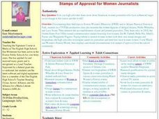 Stamps of Approval for Women Journalists Lesson Plan