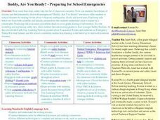 Buddy, Are You Ready?-Preparing for School Emergencies Lesson Plan