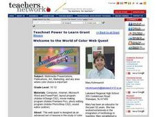 Welcome to the World of Color Web Quest Lesson Plan