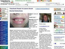 Dental Detectives Lesson Plan
