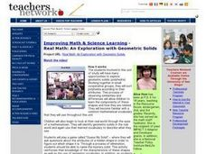 Exploration with Geometric Solids Lesson Plan