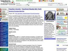 Technology: Narrative Procedure Web Site Lesson Plan