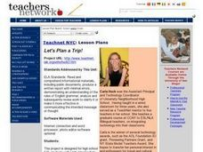 Let's Plan a Trip! Lesson Plan