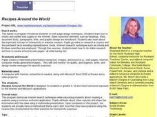 Technology: Recipes Around the World Lesson Plan