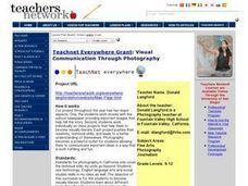 Visual Communication Through Photography Lesson Plan