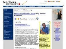 Trip Planner WebQuest Lesson Plan