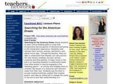 Searching For The American Dream Lesson Plan