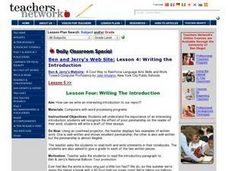 Writing the Introduction Lesson Plan