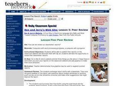 Peer Review Lesson Plan