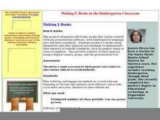 Making E-Books in the Kindergarten Classroom Lesson Plan