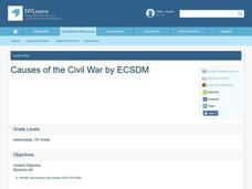 Causes of the Civil War Lesson Plan