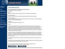 Soccer Practice Game for Warm-up And Conditioning Lesson Plan