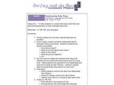 Relationship Role Plays Lesson Plan