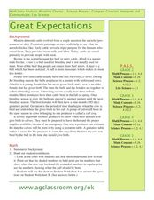 Great Expectations! Lesson Plan