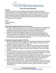 Causes of the American Revolution Lesson Plan