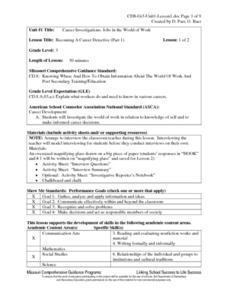 career investigation lesson plans worksheets reviewed by teachers. Black Bedroom Furniture Sets. Home Design Ideas