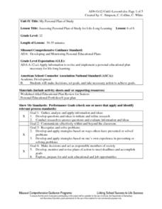 Assessing Personal Plan of Study for Life-Long Learning Lesson Plan