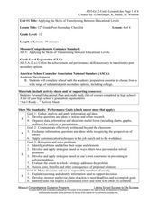 Post-Secondary Checklist Lesson Plan